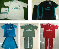 New real madrid home white soccer jerseys thai quality football uniforms kit set
