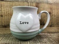 Sheffield Home Love Coffee Mint Green White Speckle Coffee Mug Cup