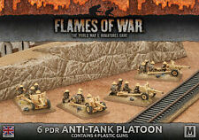 Flames of War NUOVO CON SCATOLA 6pdr ANTI-TANK PLATOON (Plastica) BBX38