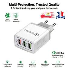 Prise mural Chargeur Adaptateur Rapide 5V 3A 3 ports USB Qualcomm
