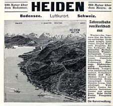 Luftkurort Heiden Bodensee Schweiz Zahnradbahn Rohrschach Histor. Annonce 1909