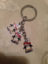 Chile Flag Keychain # 21 Pinguinos.