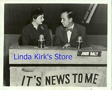 "Mrs. William Oatis & John Daly Promo Photograph ""It's News To Me"" CBS-TV 1951"