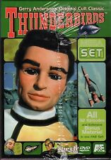 THUNDERBIRDS-MEGASET-12 DVDs-SCI FI SUPERMARIONATION SPACE RESCUE VEHICLES
