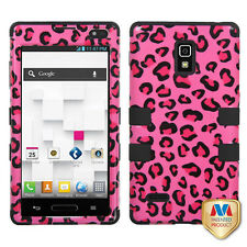 For T-Mobile LG Optimus L9 P769 IMPACT TUFF HYBRID Phone Case Cover Pink Cheetah