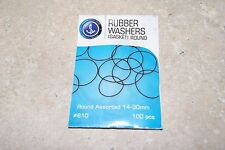 100 PIECE ASSORTED RUBBER WASHERS ROUND 14MM TO 30MM FOR WATCHES