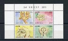 Aruba 2015 MNH UNICEF 4v Block Set United Nations Children's Fund Aid Charity