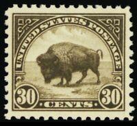 569, Mint Superb NH 30¢ Bison - A GEM - Stuart Katz