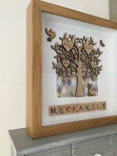 personalised scrabble picture frame family tree gift art deco