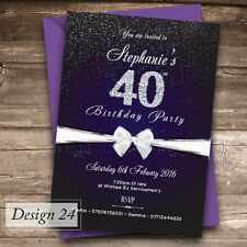 Personalised Birthday Invitations Party Invites O 18th 21st 30th 40th 50th 60th