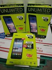 Wholesale lot of 5 new phones Lg Rebel 4 & Tcl Lx - Straight Talk Prepaid Read