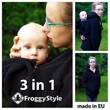 3in1 Tragejacke für Tragetuch Babytrage Tragepullover Froggy Style Größe L