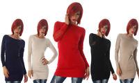 Maglione pullover maglioncino donna aderente maglia lunga pizzo nuovo