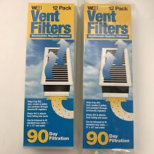 """WEB Vent Filters 22 Total (Sealed 12 Pack & Open 10 Pack) 4"""" x 12"""" Register"""