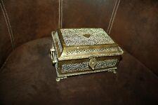 Antique  coffre boite en bronze à betel box brass 19th C.1850 XIXème ajouré