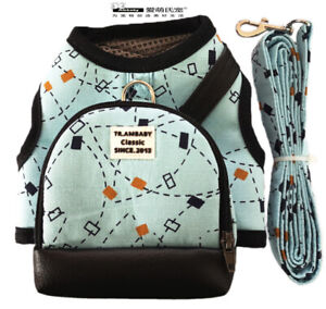 Ambaby Pet Accessory Adjustable S Dog Harness Vests Matching LeashWith Backpack