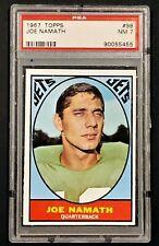 1967 Topps #98 Joe Namath - Jets - HOF - PSA 7 - NM - 90055455 - (SCA)