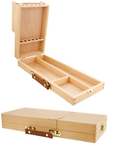 Artist Paint Brush, Drawing Pencils & Tools Wooden Storage Box Flip Opening HX31