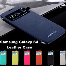 Samsung Galaxy S4 SIV i9500 Smart Cover Wallet PU Folio leather Case ScreenGuard