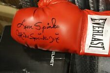 MICHAEL SPINKS & LEON SPINKS DUAL SIGNED EVERLAST BOXING GLOVE JSA WITNESS RARE