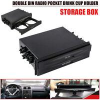 Universal 2 DIN Radio Tasche Flaschenhalter Blagefach Aufbewahrungsbox für Auto
