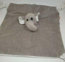 29 - DOUDOU PLAT GRIS ELEPHANT MINIFEET CREDIT AGRICOLE NOEUDS BLANC NEUF