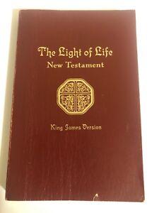 Vintage KJV 1977 Light Of Life New Testament Paperback