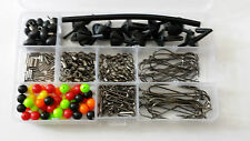 245 piece sea fishing rig making kit with storage box