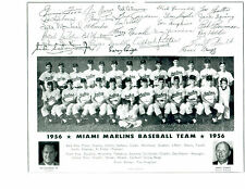 1956 MIAMI MARLINS 8X10 TEAM PHOTO  BASEBALL JIMMIE FOXX SATCHEL PAIGE SPRING