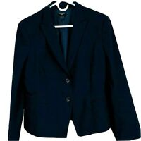 Ann Taylor Women's Size 12 Petite Navy 2 Button Tailored Suit Jacket