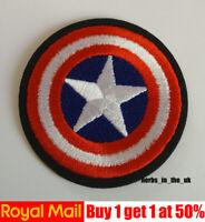 Captain America American Shield Iron On / Sew On Patch Badge / Marvel Comics