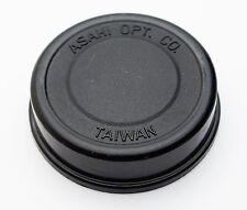 Genuine Asahi Pentax K/PK Mount Rear Lens Cap Push-On Rubber Black Screw Takumar