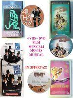 LOTTO 4 FILM MUSICALI MUSICAL Videocassette VHS + DVD Movie