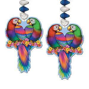 Tropical Bird Danglers 2 Piece Luau Party Decoration
