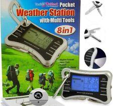 Digital LCD Termómetro Reloj Estación Meteorológica Temperatura Interior Multitool Alarma