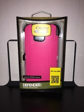 New OtterBox Defender Series Case and Belt Clip HTC One M8 Neon Pink Authentic