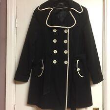 Ladies George Of Asda Black  Coat Size 16