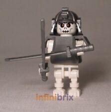 Lego Custom Skeleton Samurai Minifigure with Helmet + Duel Swords Ninjago cus346