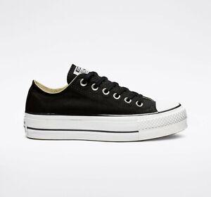Converse Chuck Taylor All Star Platform Canvas Iconic Shoes Black