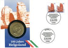 Numisbrief Deutschland 1990 100 Jahre Helgoland mit 3 Mark Preußen 1911 N_173