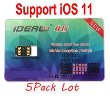 5Pcs iDeal Cloud GPP 4G LTE Phone Unlock Sim Cards For iPhone 8/X 7 6S 6 5S SE