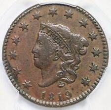 1819 N-5 PCGS XF 45 Small Date Matron or Coronet Head Large Cent Coin 1c