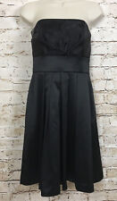 NWT White House Black Market WHBM Dress Black Strapless Women's Size 2
