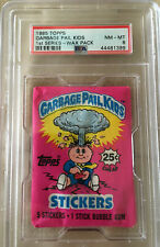 1985 TOPPS GARBAGE PAIL KIDS FIRST SERIES WAX PACK PSA 8. 25 Cents