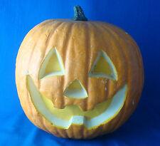 "1970s vintage 11"" polyurethane foam jack o lantern pumpkin Halloween"