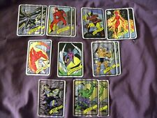 Vintage Marvel & DC Vending Machine Prism Foil Sticker Comics Lot of 14 Stickers
