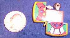 Vintage YELLOW SHOGUN WARRIORS Mini Lighter -DVS -Japan Rare-Quarter Size-