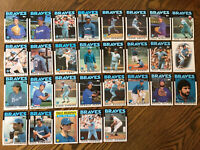 1986 ATLANTA BRAVES Topps COMPLETE Baseball Team Set 29 Cards MURPHYx2 SUTTER