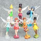 1 Set of 7 Disney Princess Tinker Bell Fairy Family Figures Dolls Toy 9-10cm
