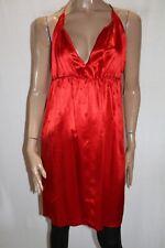 Sportsgirl Brand Red Sleeveless V Neck Silk Blend Shift Dress Size 12 BNWT #SN77